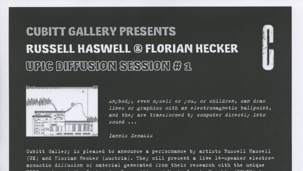 Russel Haswell and Florian Hecker