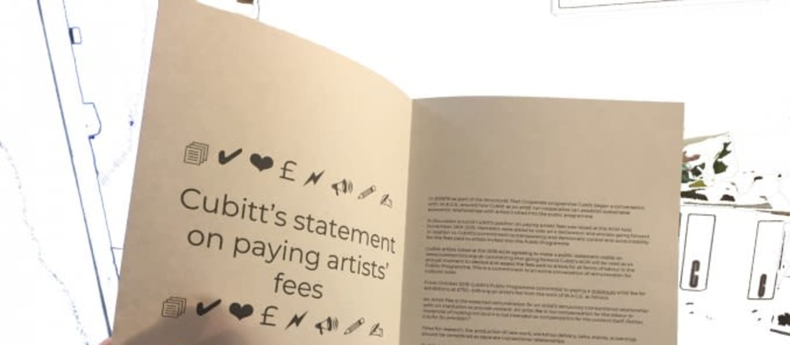 Cubitt's statement on paying artists' fees