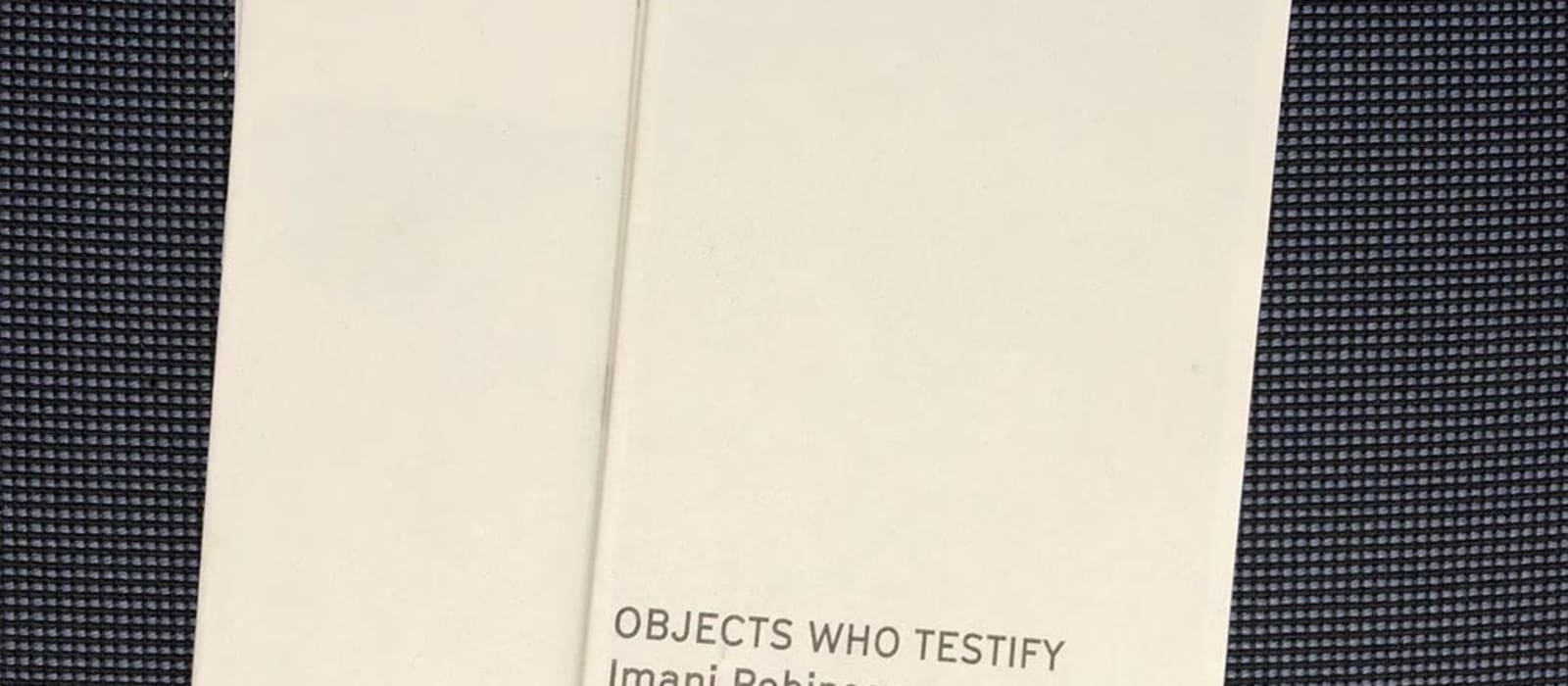 Read: Objects Who Testify